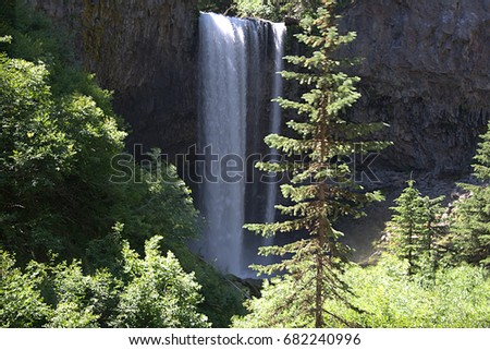 Tamanawas Falls in the Oregon Cascade Mountains near Mt. Hood #682240996