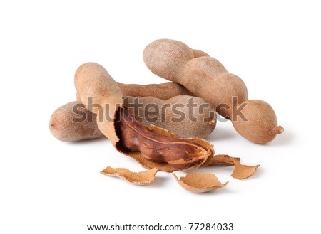 Tamarind isolated on white background