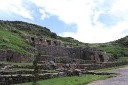 Tambomachay Inca Ruins in Cusco Peru, Inca Ruins with Beautiful Water Fountains
