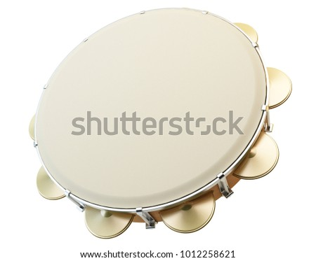 Tambourine 3D Illustration