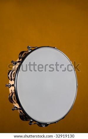 Tambourine Isolated - stock photo