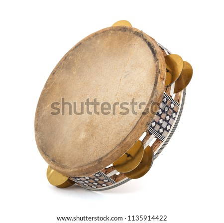Tambourine isolated on a white background Stock photo ©