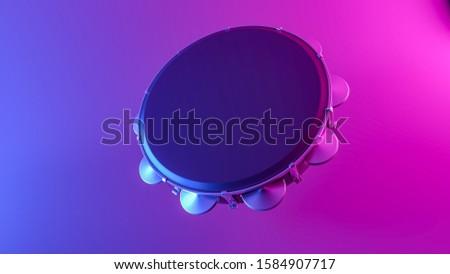 Tambourine pandeiro music instrument carnival samba pagode 3D illustration Stock photo ©