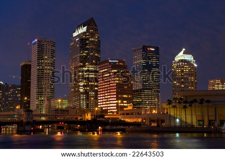 Tampa, Florida - Jan. 1, 2009 - View of  Downtown Tampa in Florida. The Tampa Bay will be host of the Super Bowl XLIII on February 1, 2009.