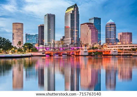 Tampa, Florida, USA downtown skyline. Foto stock ©