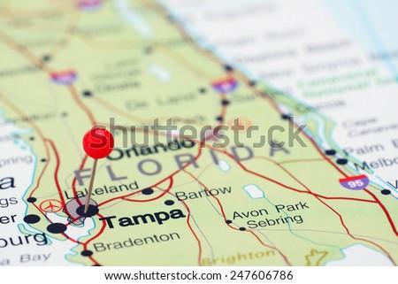 Tampa Florida Usa Map.Free Photos Map With Pin Point Of Tampa In Florida Usa Avopix Com
