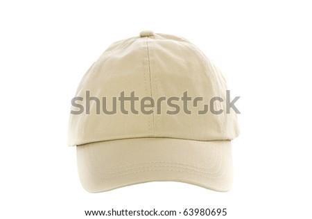 Tan Baseball Cap isolated on white