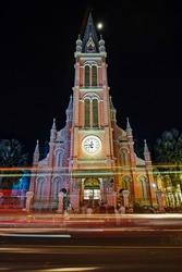 Tan Dinh Church at prayer time