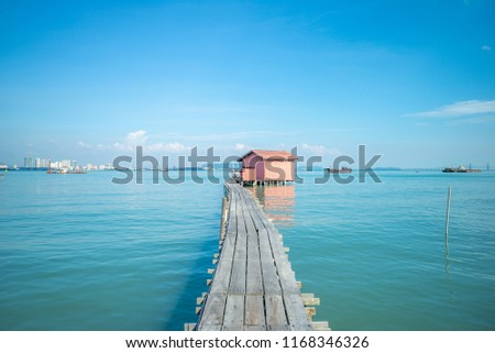 tan jetty, one of clan jetties at penang, malaysia