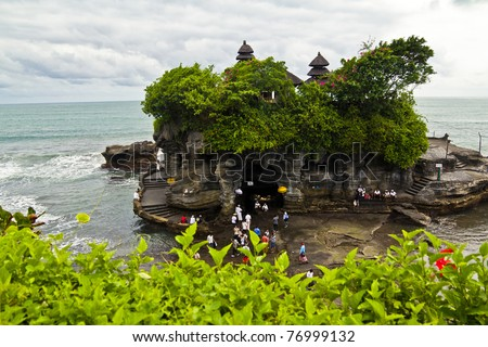 Tanah Lot. Sea Temple in Bali, Indonesia