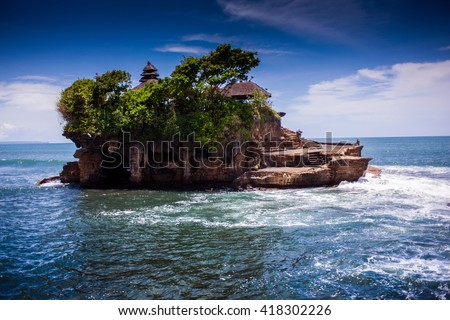 Tanah Lot Temple on Sea in Bali Island Indonesia