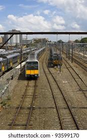A stock photo of a Tangara train in Sydney, Australia