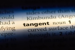 tangent word in a dictionary. tangent concept.