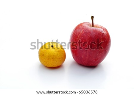 tangerine and apple