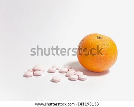 Tangerine and pills