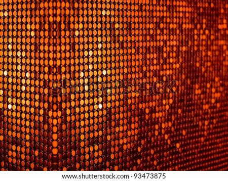 Tangerine orange sequins textile background. Ideal for disco, party, carnival or christmas design. More of this motif & more textile in my port