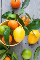 Tangerines, lemons and limes