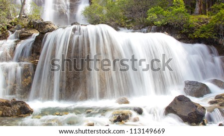 Tangle Falls in Jasper National Park, Alberta, Canada