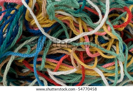 Tangle of Wool. Suitable for use as background. - stock photo