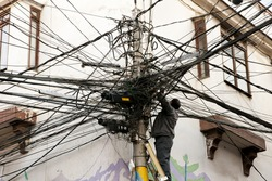 Tangled Electric Cables