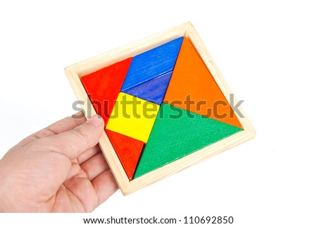 Tangram - stock photo