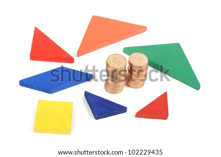 Tangram and coin