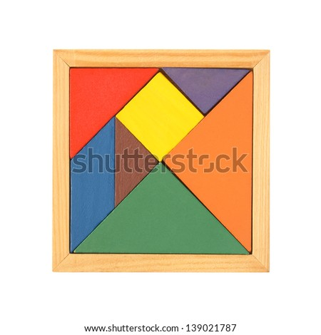 Tangram isolated on a white background