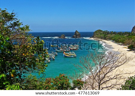 Tanjung papuma beach east Java, Indonesian beauty landscape of Papuma Cape #477613069
