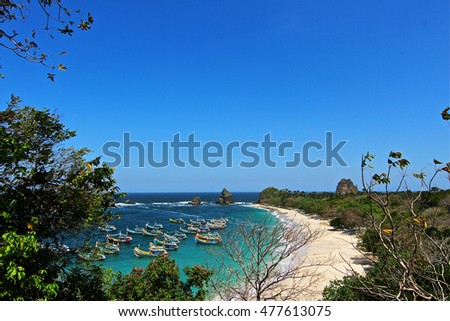 Tanjung papuma beach east Java, Indonesian beauty landscape of Papuma Cape #477613075