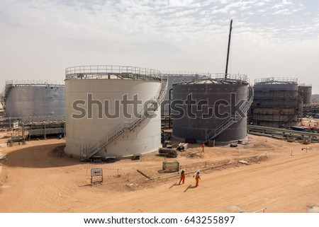 Tank construction stock photo