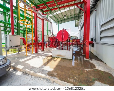 Tank of diesel generator systems for backup electric power in Biomass Power Plant.