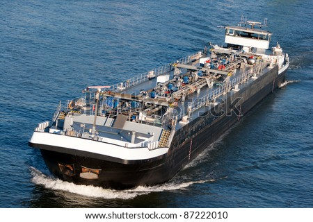 Tanker barge on the German Rhein river.