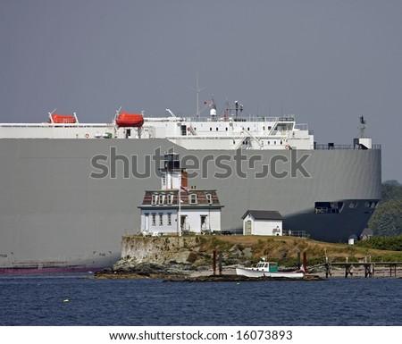 Tanker cruising