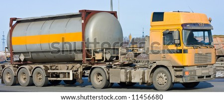 """tanker truck moves chemicals  - See similar images of this """"Business vehicles"""" series in my portfolio"""