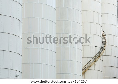 Tanks in Chemical Factory - stock photo