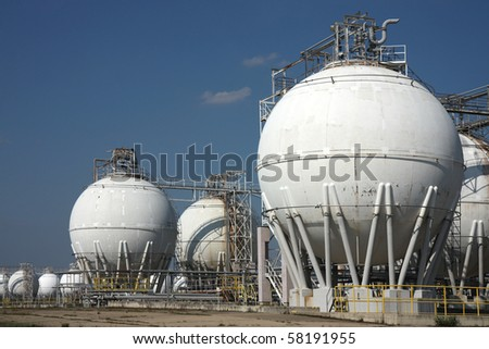 tanks in oil refinery factory