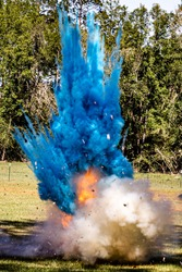 Tannerite explosion from gender reveal