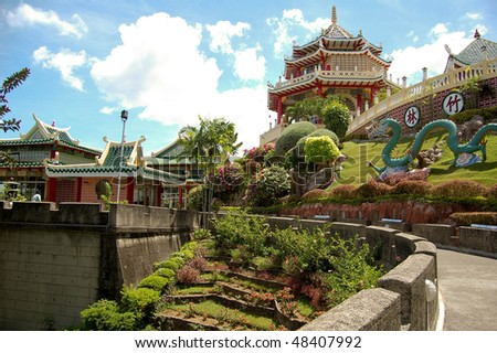 taoist temple and garden in cebu, philippines