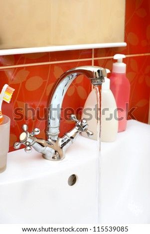 tap water in the bathroom