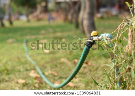 tap water,Old Water Pipe, Faucet With Nature Brown Earth Backg #1339064831