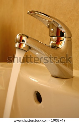 Tap with running water