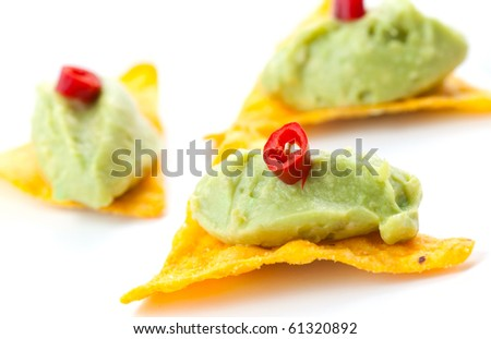 tapa with avocado cream and chili