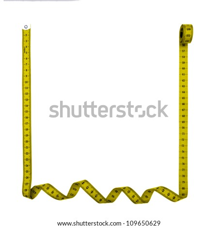 Tape measure frame, square