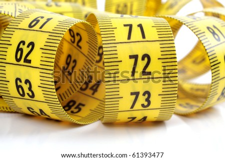 Tape measure isolated on a white background