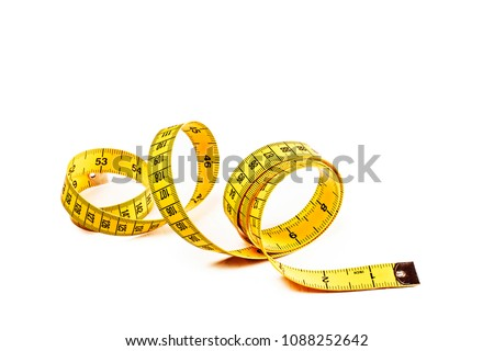 Tape measure isolated on white Foto stock ©