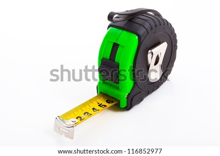 Tape measure, Isolated on white background.