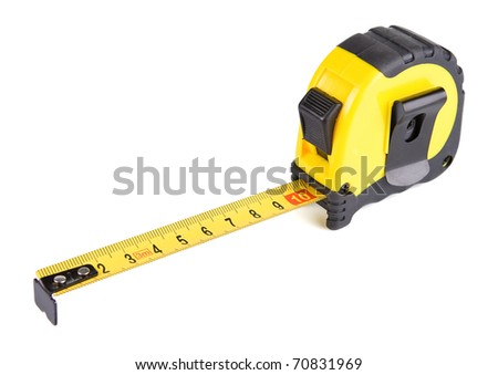 tape measure isolated on white background #70831969