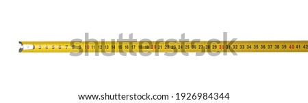 Tape measure isolated on white. Construction tool Photo stock ©