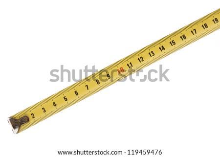 tape measure on white