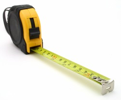 tape measure over a white surface